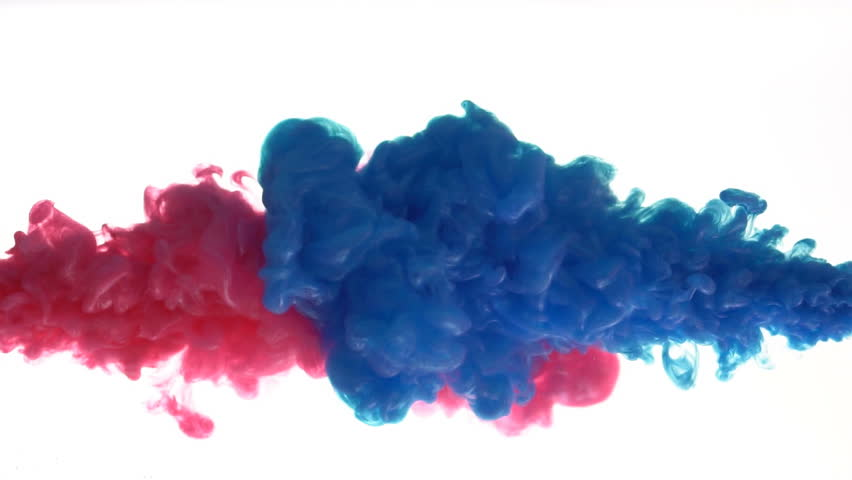 Colorful Ink mixing in water, Slow motion | Shutterstock HD Video #1021499182