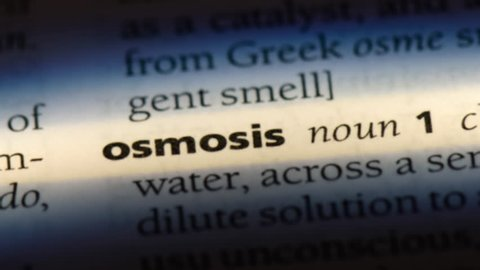 osmosis word in a dictionary. osmosis concept.