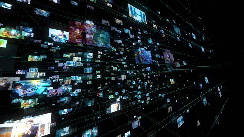 Social networking concept. | Shutterstock HD Video #1021588522