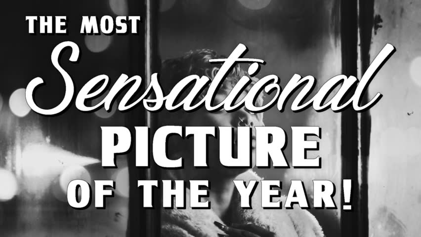 Classic vintage film noir movie trailer, original creation and content with fictitious cinematic style title cards and damaged film effects | Shutterstock HD Video #1021668742