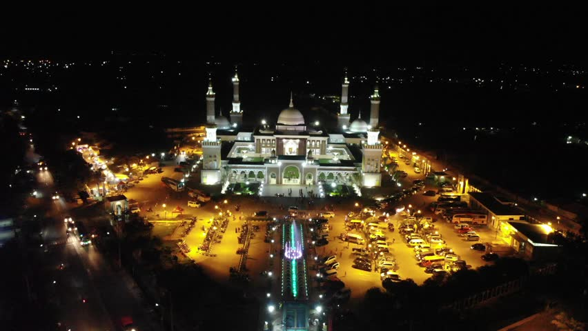 Drone At Islamic Centre Indramayu Stock Footage Video 100