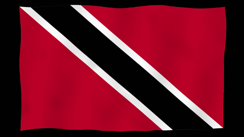 Flag of Trinidad and Tobago, 60 fps, slow motion, lopped, alpha channel | Shutterstock HD Video #1021723732