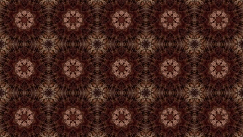 Brown kaleidoscope background. abstract animation. 3d render | Shutterstock HD Video #1021724902