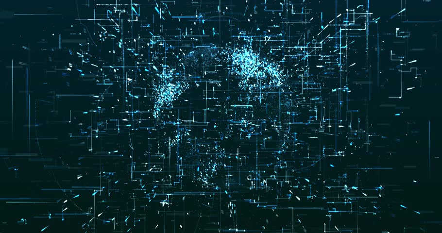 Abstract digital data background   Shutterstock HD Video #1022106922