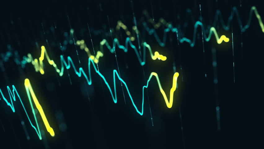 Animation growth of abstract charts with changing values of check points on dark background. Animation of seamless loop.   Shutterstock HD Video #1022110492