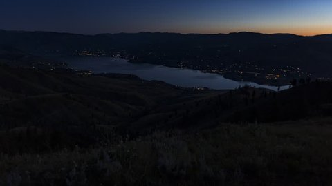 Summer sunrise over Lake Chelan taken from Chelan Butte
