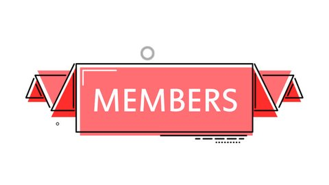 red flat animation banner members