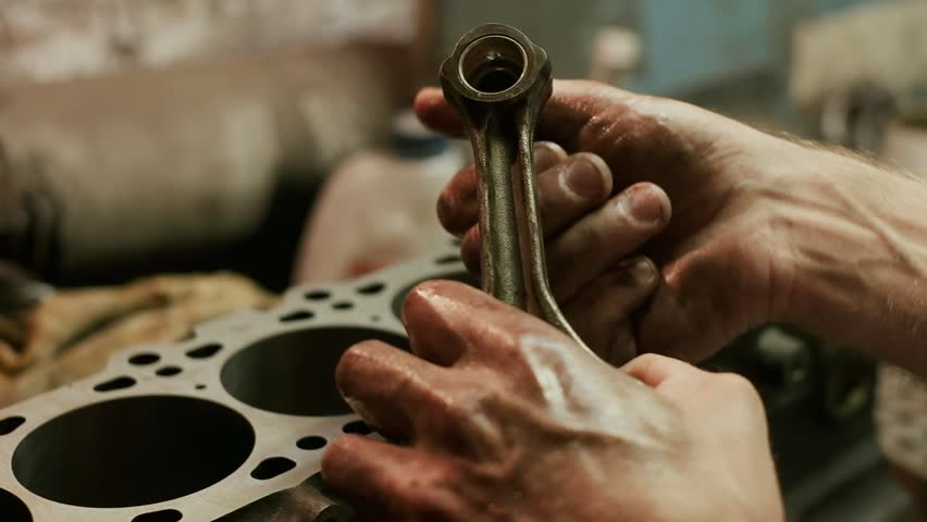 Close-up  Car Mechanic Checks the Stock Footage Video (100% Royalty-free)  1022387722 | Shutterstock