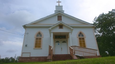 Southern baptist country church in rural Mississippi