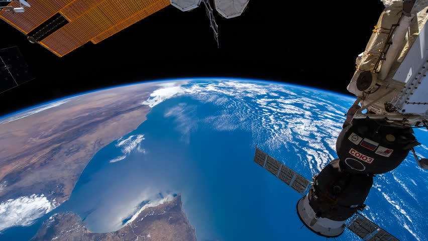 SEPTEMBER 2018: ISS view of Earth across the Africa continent, Time Lapse 4KUHD. Created from Public Domain images, courtesy of NASA