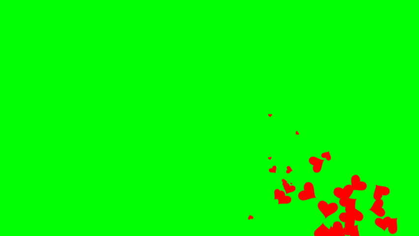 Looped animation on a green background. animated heart. #1022453572