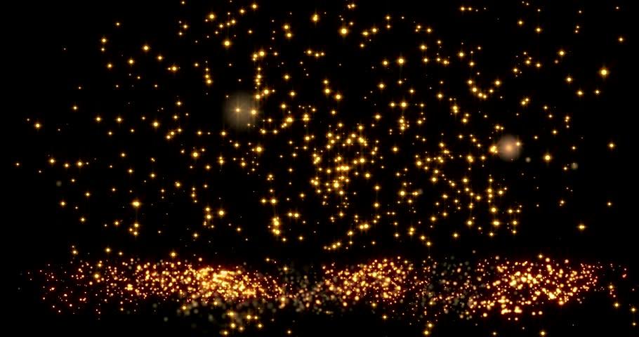 Golden confetti bokeh lights on the black background   Shutterstock HD Video #1022456452