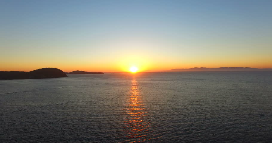 Seascape with beautiful sunset over the sea | Shutterstock HD Video #1022471002