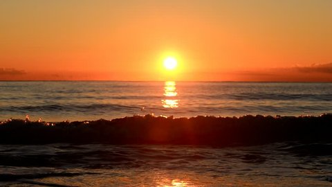 Sunrise on a beach in Denia, Alicante