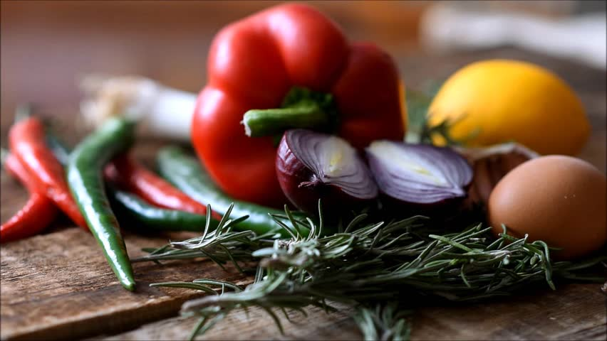 Fresh vegetables on the table | Shutterstock HD Video #1022702512