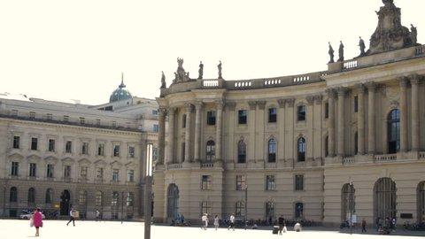 Humboldt University from Bebelplatz in Berlin
