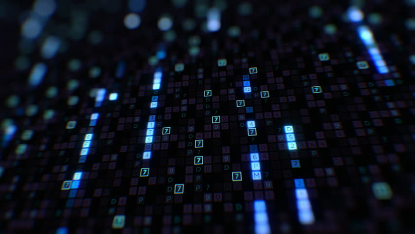 Digital Code Big Data Blue Color with Running Searching Line Seamless. Changing Symbols Glowing Looped 3d Animation. Futuristic Business Information Technology Concept. 4k Ultra HD 3840x2160. | Shutterstock HD Video #1022762392
