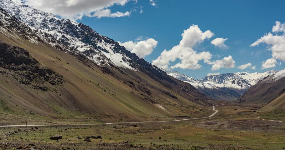 Time Lapse, Parque Provincial Aconcagua, Argentina.
