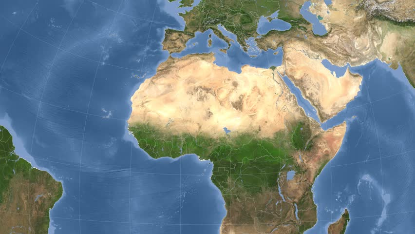 Sattelite Map Of World.Niger On The Satellite Map Stock Footage Video 100 Royalty Free
