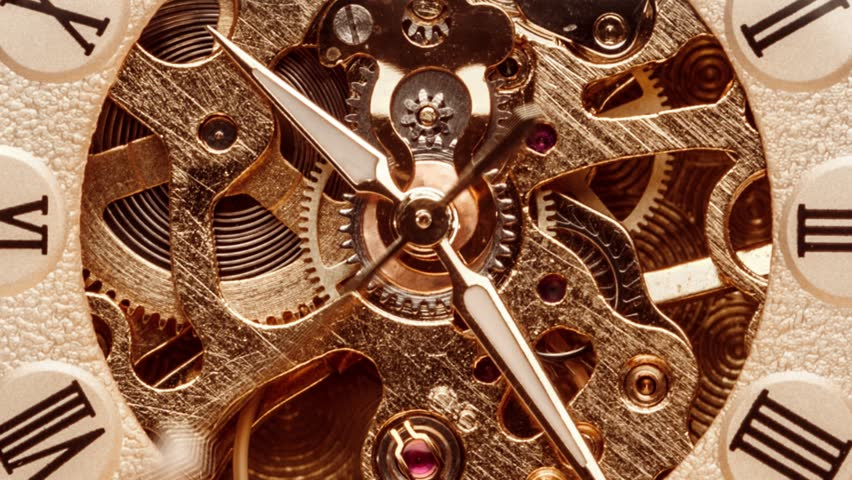 Antique clock dial close-up. Vintage pocket watch. | Shutterstock HD Video #1023001582