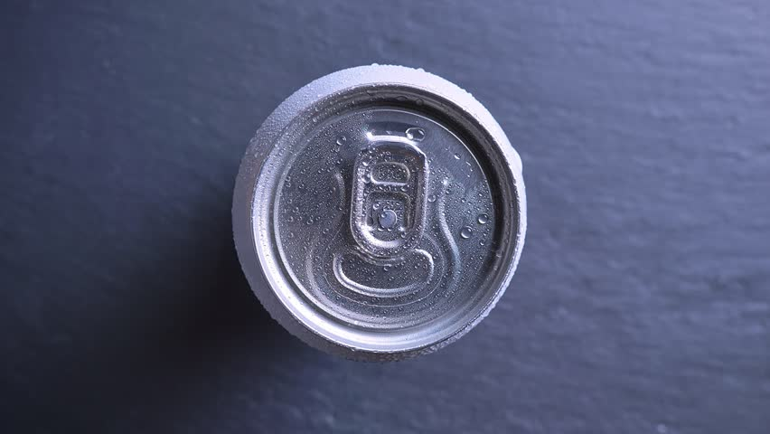 Closeup top bottom shoot of hand opening the can of energy drink | Shutterstock HD Video #1023027442