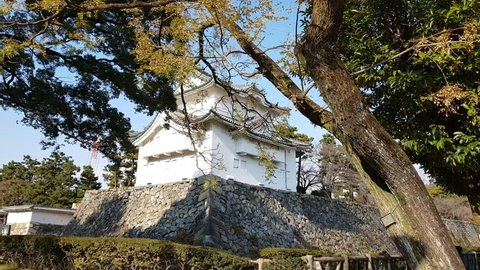 The scenery of Nagoya Castle in Japan