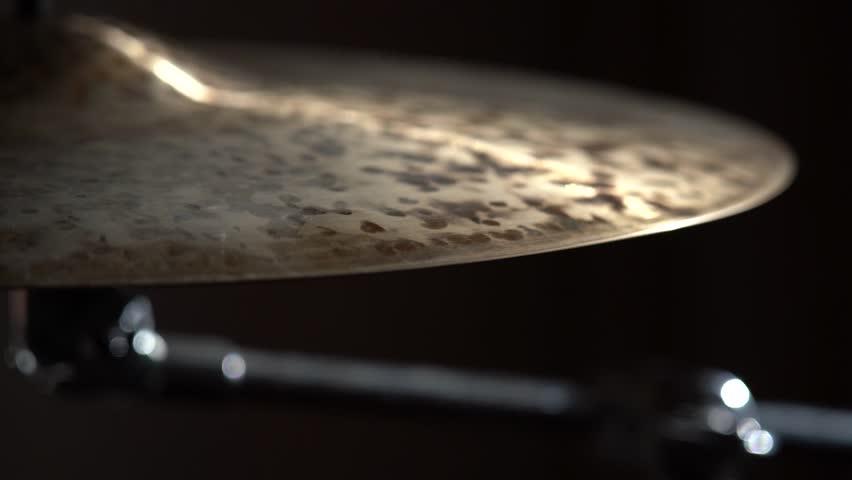 Cymbal closeup, slow motion