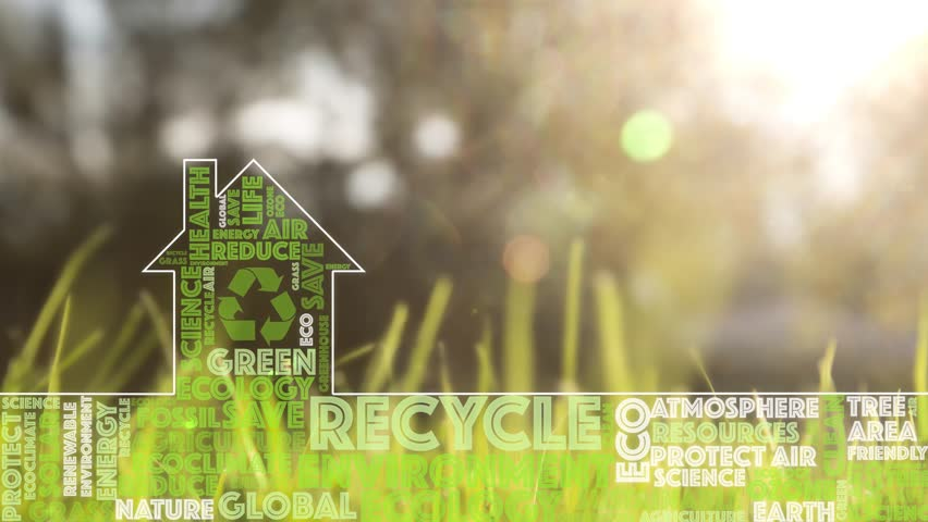 Artistic Eco Green House Symbol Stock Footage Video (100% Royalty-free)  1023498712 | Shutterstock