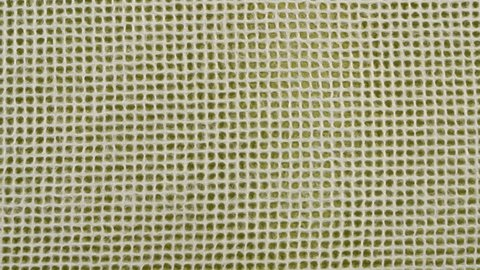 Thai mulberry lace paper with grid pattern against green background - horizontal pan