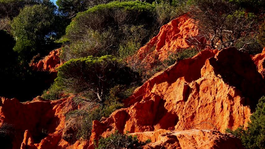 Falesia Cliffs in the Algarve Coast, south of Portugal | Shutterstock HD Video #1023570022