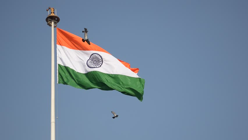 Indian National Flag, the Tricolor Stock Footage Video (100% Royalty-free)  1023592012 | Shutterstock