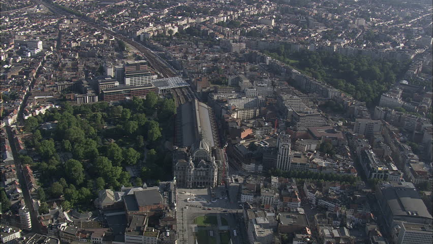 AERIAL Belgium-Central Station And Zoo Entrance 2007: Station at Antwerp
