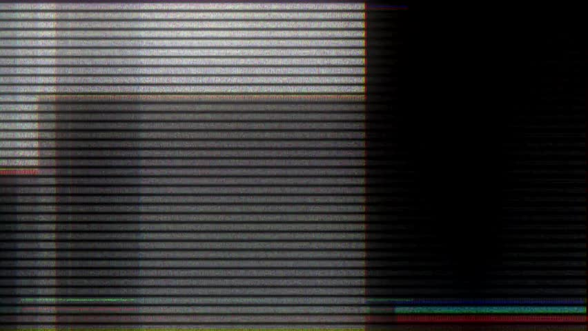 Glitch noise static television VFX. Visual video effects stripes background, tv screen noise glitch effect. Video background, transition effect for video editing, intro and logo reveals with sound. #1023671902