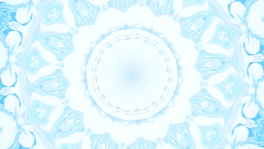 Abstract motion graphics background. Hypnotic mandala for meditation. Kaleidoscope stage visual effect for concert, music video, show, exhibition, LED screens and projection mapping.