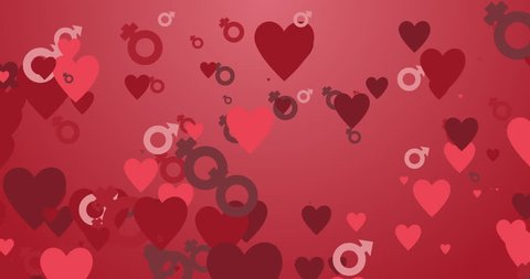 Motion transition read hearts for saint valentin