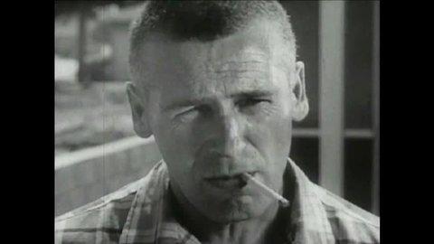 CIRCA 1950s - 1950s - Marlboro Cigarette commercial - real men smoke Marlboro.