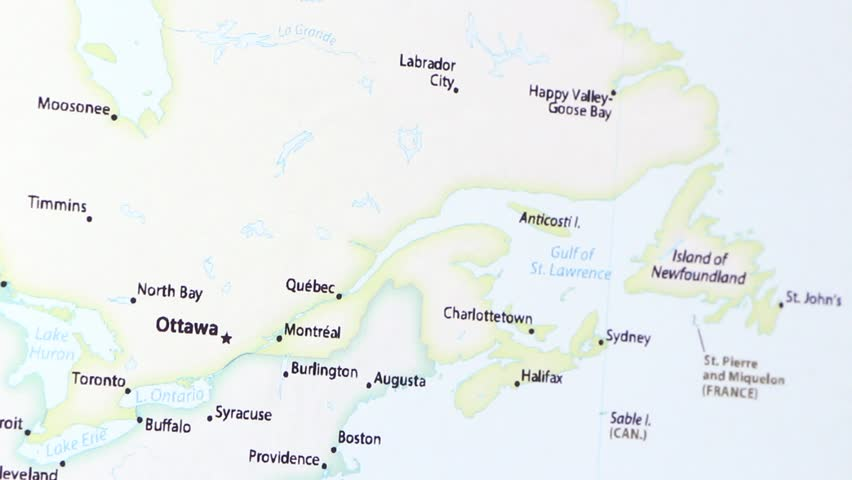 Hd00 24part Of Canada With Ottawa On A Political Map Of The World