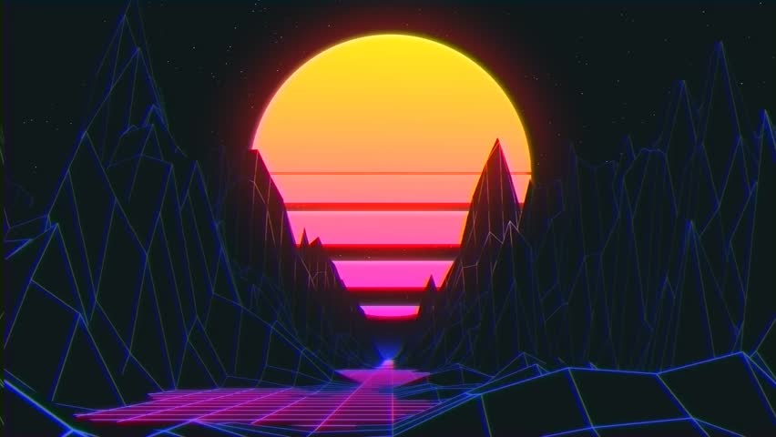 Screensaver 80s Style  Synthwave  Big Stock Footage Video (100%  Royalty-free) 1023810292 | Shutterstock