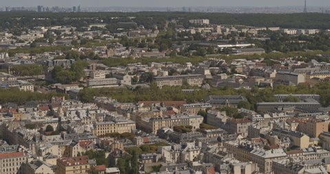 Paris France Aerial Panoramic cityscape view of city of Versailles to view of Palace and tourist crowd 8/18