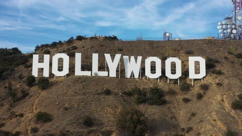 Day Aerial Hollywood Sign Hills Stock Footage Video 100 Royalty