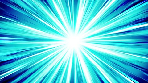 Starburst rays in space. Cartoon beam loop animation. Future technology concept background. Explosion star with lines.