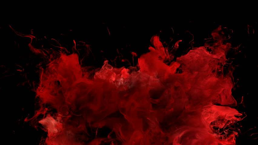 Red Color Burst - colorful smoke explosion fluid particles alpha matte | Shutterstock HD Video #1024530512