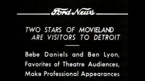 CIRCA 1930 - Movie stars Bebe Daniels and Ben Lyon visit Detroit in 1934.