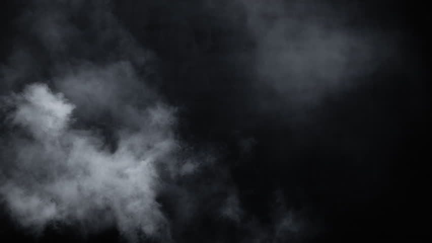 Spooky magic halloween. Atmospheric smoke VFX element. Haze background. Abstract smoke cloud. Smoke in slow motion on black background. White smoke slowly floating through space against black bg   Shutterstock HD Video #1024598672