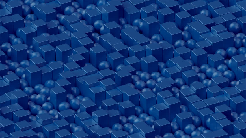 Looped 3d cubes and spheres animation, blue, princess blue | Shutterstock HD Video #1024639952