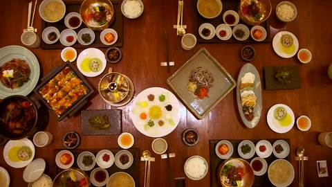 Stunning Culinary Experience of Traditional Korean Food Asian Buffet Selection