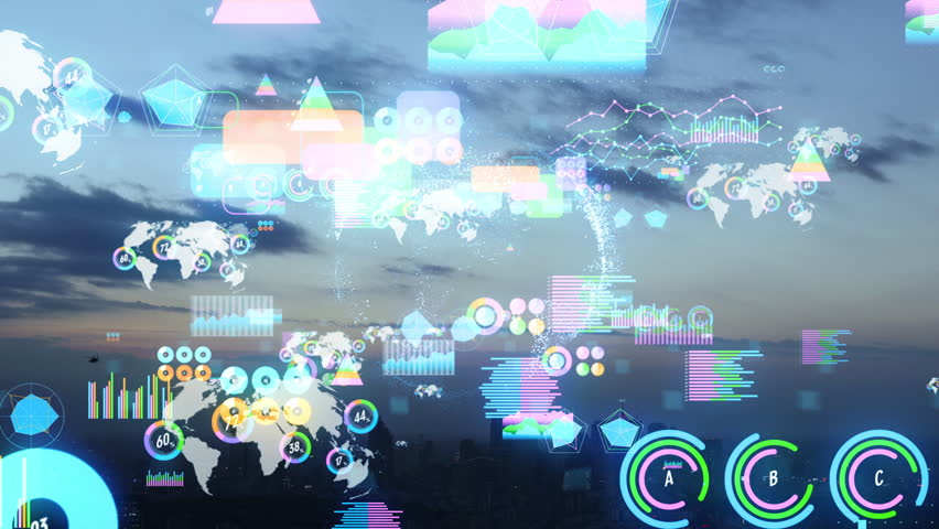 Urban cityscape and statistics concept. | Shutterstock HD Video #1024903472