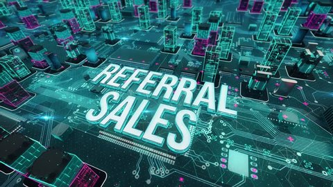 Referral sales with digital technology concept