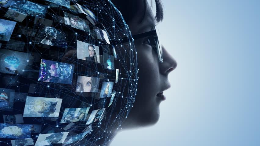 AI (Artificial Intelligence) concept. | Shutterstock HD Video #1024961732