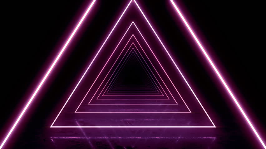 Abstract background with animation of flight in abstract futuristic tunnel with neon light. Animation of seamless loop.  | Shutterstock HD Video #1025051222